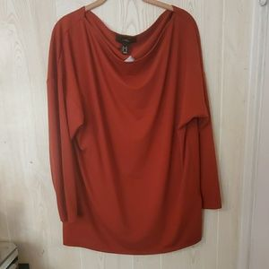 Forever 21 scoop neck top  size ox  new